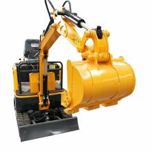Mini excavator toy towable backhoe thumb