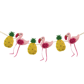Hawaii-Flamingo-Party-Fahnen-Dekoration