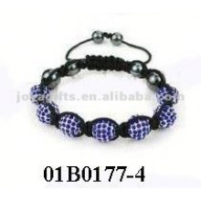 shamballa bracelet with stone with Polymer clay Crystal balls