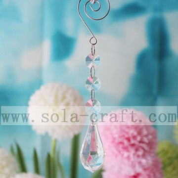 Tear Drop Prism Chandelier Lamp Christmas Decor Pendant 16CM