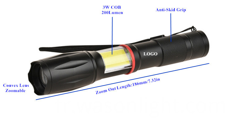 Magnetic Base Flashlight