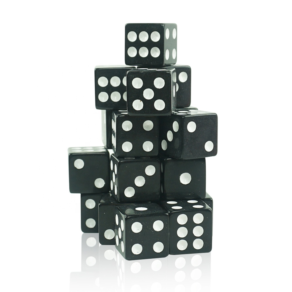 Quality Acrylic Game Dice Black