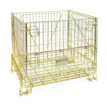Conteneur de cage de stockage en métal pliable