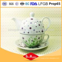 Arabic tea set and coffee pot Ceramic flower print teapot set, ceramic tea set