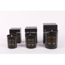 Schwarzglas Jar Kerze mit individuellem Logo
