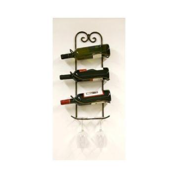 Metal Wire 3 Bottles Wine Rack