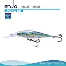 Angler Select Glass Minnow Stick Bait Fishing Tackle Lure with Vmc Treble Hooks (SB0490)