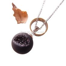 Mode natürliche Achat Druzy Ball Halskette