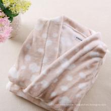 Kimono Bathrobe Printed Coral Fleece Fabric