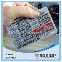 Paper Phone Card Blank Card Name Card Transportation Card PVC Card