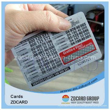 Бумажная телефонная карточка