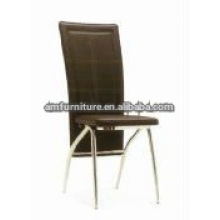 simple dining chair with PVC and metal