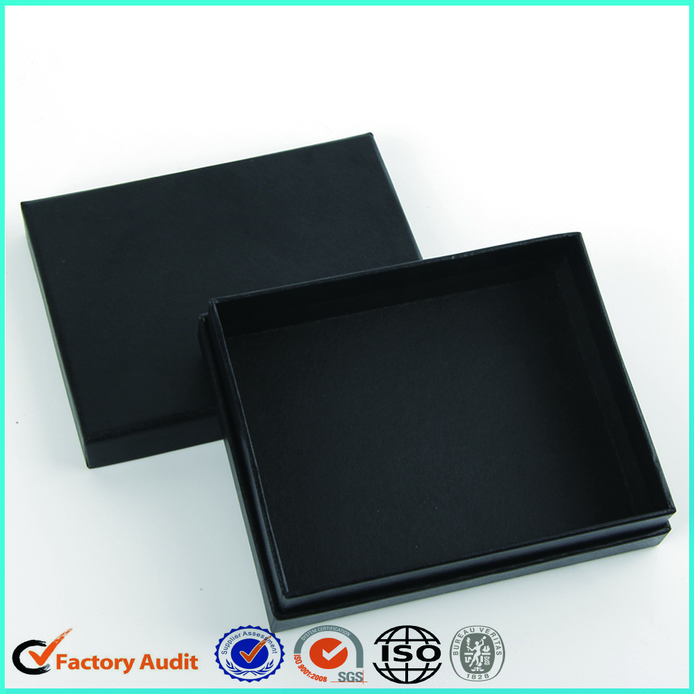 Customized Black Cardboard Jewellery Ring Box
