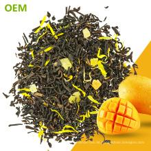 Großhandelskundenspezifisches exotisches populäres bestes loses Blatt entkoffeinierte Kräuter MarigoMango schwarzer Tee-Mischungen / gemischter schwarzer Tee / gewürzter Tee