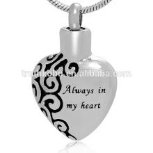 Exquisite Herzform Engravable immer in meinem Herzen klar sinnvolle Asche Anhänger