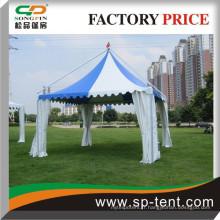Tente de dentelle extérieure romantique avec fenêtre en PVC pour fête