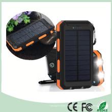 Cargador dual impermeable del banco de la energía solar del teléfono móvil del USB con la luz dual del LED (SC-6688)