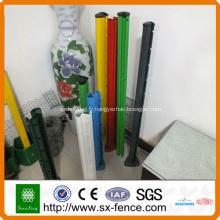 poteaux de clôture en métal enduit de PVC