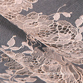 Renda Beige Corded Lace Chantilly Eyelash Lace