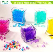 O solo de cristal Multi-Colored gel a água da bola da geléia peroliza a decoração home do casamento