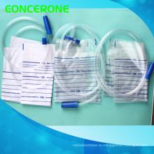 Устранимый медицинский мешок дренажа мочи с клапаном крест