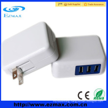 China supplier 3 ports multi 5v 2.1A USB charger