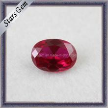 Рубиновая овальная форма Синтетические камни 5 # Рубин