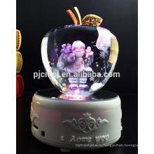 настроить хрустальное яблоко с лазерной 3D Санта Клаус и свет цвета Сид базы