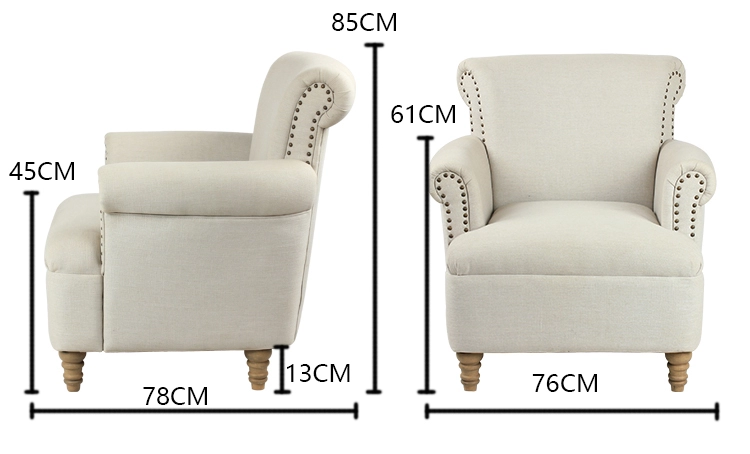 Single Seat Modern Hotel Armchair