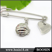 13 Years Manufacturer Silver Jewelry Wholesale Metal Brooch Pin #5901