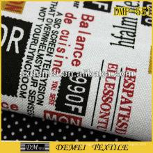 Journal de mode poly coton imprimé tissu tissé