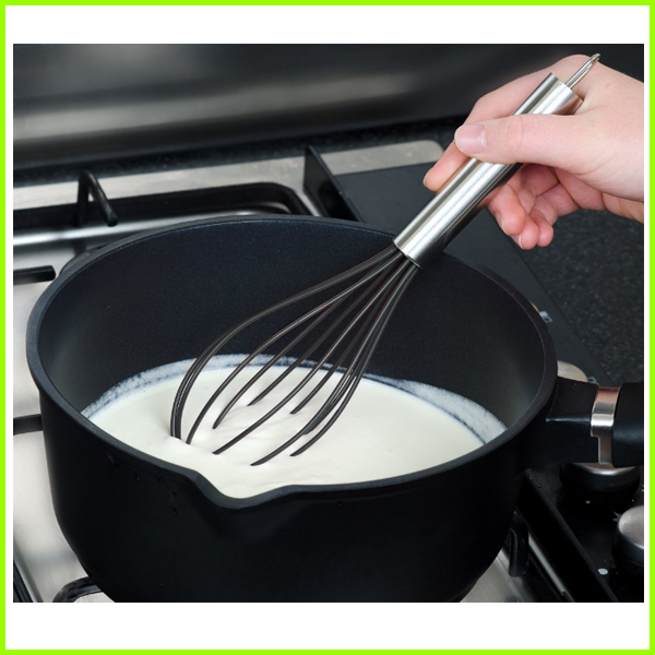 Flexible Grade 201 Stainless Steel Whisk With Silicone heads
