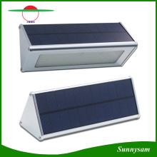 Lumières murales solaires Alliage d'aluminium extérieur 48 LED Radar infrarouge Capteur Lampes à lampe à économie d'énergie pour jardin