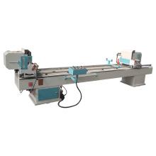 High precision pvc upvc profile window door double head mitre cutting saw machine