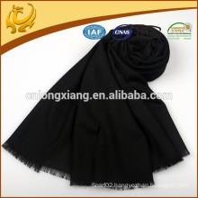Hot Sale Factory Price Lady Big Black Wool Scarf