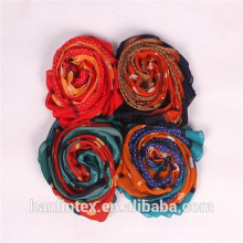 muslim scarf spun polyester fabric/Ne 80/1 spun yarn polyester fabric for scarf