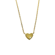 Collier plaqué or Tiny Love Heart