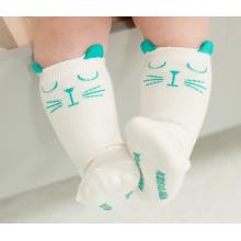 Mignon bébé coton chaussettes bas avec anti-dérapant (KA022)