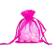cheap sale pure color drawstring organza bag