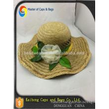Hand make frowers Straw hat/JAZZ straw hat
