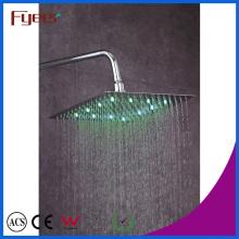 Fyeer LED Slim Rainfall Shower Head Cor da torneira do banheiro mudado pela temperatura da água
