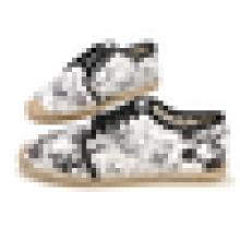 Печатные цветы холст обувь мужчины случайные Espadrille обувь зашнуровать