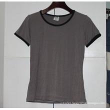 Women Bamboo Sexy Slim Fit Blank T Shirt