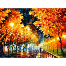 Autumn Landscape Tree Oil Painting for Decor
