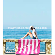 China Sand Free Microfiber Beach Travel Yoga Towel, Thick Cotton Pool Towel, Sports & Hotel Pool Towel, Absorbent Beach Towel with Chair Clips