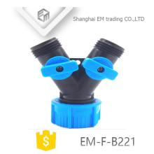 EM-F-B221 Y tipo conector de manguera de jardín de plástico de 3 vías