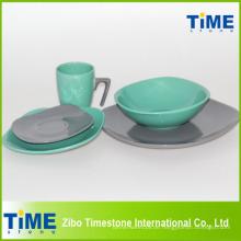 Keramik-Dinner-Set mit 7-Form-Becher