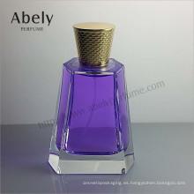 Botella de perfume pulida de lujo del vidrio de espray para unisex