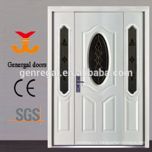 Glass insert steel entry door with side lite