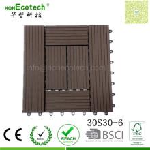 Квадратный Размер 300*300 деревянная составная доска РПЛ Патио плитки для ресторана балкон